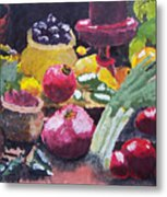 Fruit Still Life Metal Print