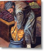 Fruit Vendor Metal Print