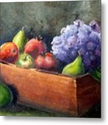 Fruit With Hydrangea Metal Print