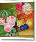 Fruits And Flowers .2006 Metal Print
