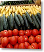 Fruits And Vegetables On Display 1 Metal Print