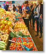 Fruits And Vegetables - Pike Place Market Metal Print