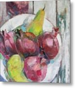 Fruits In Vintage Metal Print