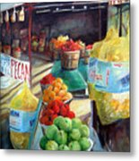 Fruitstand Rhythms Metal Print