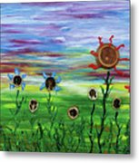 Fruity Flowerfield Metal Print