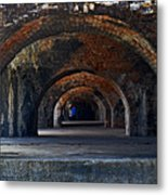 Ft. Pickens Arches Metal Print
