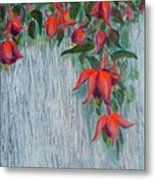Fuchsia On The Fence Metal Print