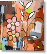 Fuddled Floral Metal Print