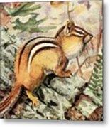 Fuertes, Louis Agassiz 1874-1927 - Burgess Animal Book For Children 1920 Striped Chipmunk Metal Print