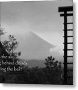 Fuji Bell Haiku Metal Print