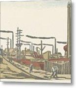 Fukagawa Bedrijventerrein  Maekawa Senpan  1945 Metal Print