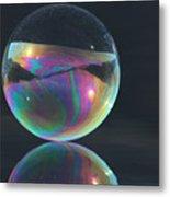 Full Bubble Metal Print