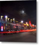 Full Moon And Night Clubs Metal Print