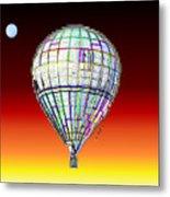 Full Moon Balloon Metal Print