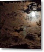 Full Moon Cloudy Night Metal Print