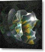 Abstract Full Moon Metal Print