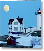 Full Moon Nubble Metal Print