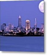 Full Moon Over Cleveland Metal Print