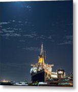 Full Moon Over Queen Mary Metal Print