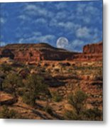Full Moon Over Red Cliffs Metal Print