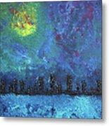Full Moon Over Watercity Metal Print
