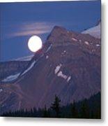 Full Moon Over The Rockies Metal Print