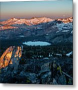Full Moon Set Over Desolation Wilderness Metal Print