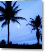 Full Moon Sunrise Metal Print
