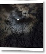 Full Moon With Clouds Metal Print