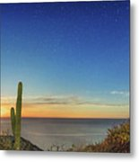 Full Moon With Shooting Star Metal Print