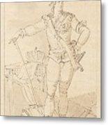 Fullfigure Portrait Of King Gustaf Metal Print