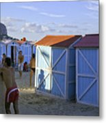 Fun At Mondello Beach Metal Print