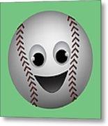 Fun Baseball Character Metal Print by MM Anderson