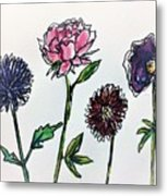 Four Flowers  Metal Print