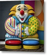 Fun House Clown Point Pleasant Nj Boardwalk Metal Print