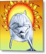 Fun In The Sun Metal Print by Sheryl Unwin