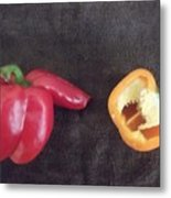 Fun With Vegetables Metal Print