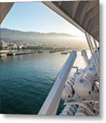 Funchal By The Ship Metal Print