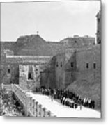 Funeral Procession In Bethlehem During 1934 Metal Print