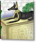 Funerary Anubis Metal Print
