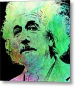 Funky Einstein  Metal Print