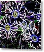Funky Flowers Metal Print