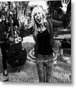 Funky Singer Metal Print