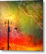 Funky Sunset Metal Print
