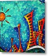Funky Town Original Madart Painting Metal Print