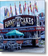 Funnel Cakes Metal Print