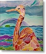 Funny Egret Metal Print by Carolyn Weir