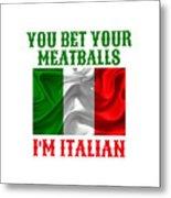 Funny Italian Flag Metal Print