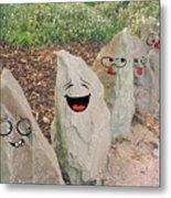 Funny Rocks Metal Print