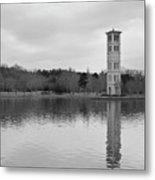 Furman Bell Tower 4 Bw Metal Print